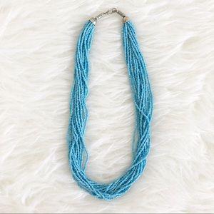 Turquoise Multi-Strand Beaded Necklace